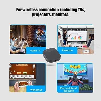 ASHATA HD 4K 2.4G/5G Frecuencia Dual WiFi HDMI Receptor Inalámbrico de Pantalla Adaptador de Espejo de Pantalla Dispositivo Soporte Netflix, Youtube, Google Chrome, etc.: Amazon.es: Electrónica