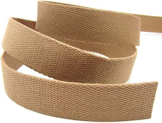 STEPHANOISE - Cinta para cinturón de Seguridad, algodón, 30 mm de Ancho, para Bolsos, Cosido, género al Metro, 1 m, Color marrón: Amazon.es: Juguetes y juegos