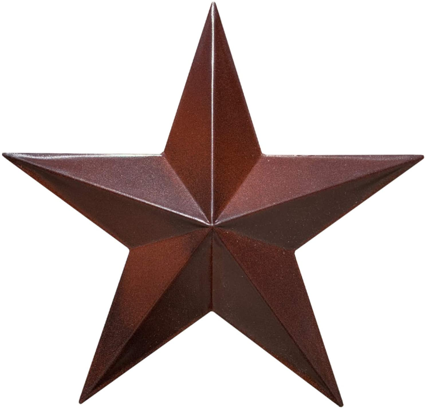 "EcoRise Barn Star - Metal Stars for Outside Texas Stars Art Rustic Vintage Western Country Home Farmhouse Wall Decor (12"")"