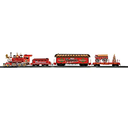 66fdeb8f5 Exclusive Budweiser Illuminated Holiday Express Train Set by Hawthorne  Village