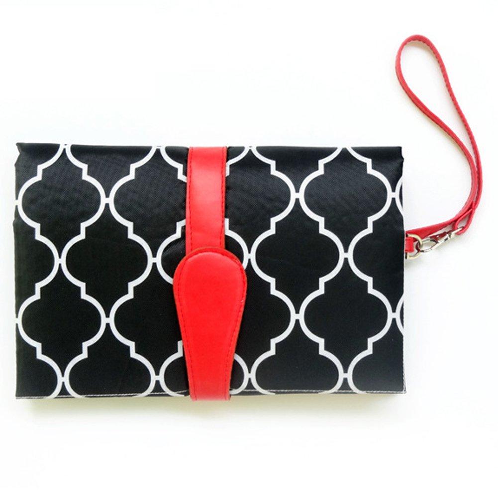 Uniqstore Baby Portable faltbare Wickelauflage Wickelunterlage Windel wechseln Pad Mat für Heim und Reisen Floral
