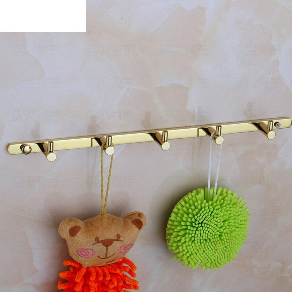 YAOHAOHAO Coat hooks single hooks/clothing hooks/Hangers/Communities gold-plated hooks/the space of the aluminum hooks in stainless steel