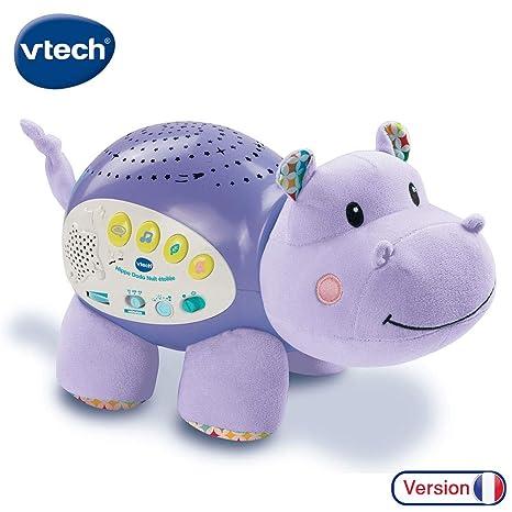 VTech Baby - Proyector musical Popi estrellitas, color púrpura, versión francesa