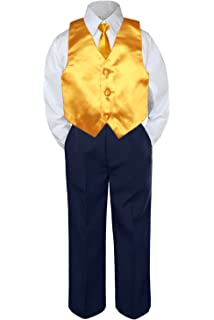 10, Champagne MILLTEX Classic Gift Wedding Party Tuxedo Suits Color Satin Vest /& Bow tie Only from Boy Kids Preadolescence Size 5-14
