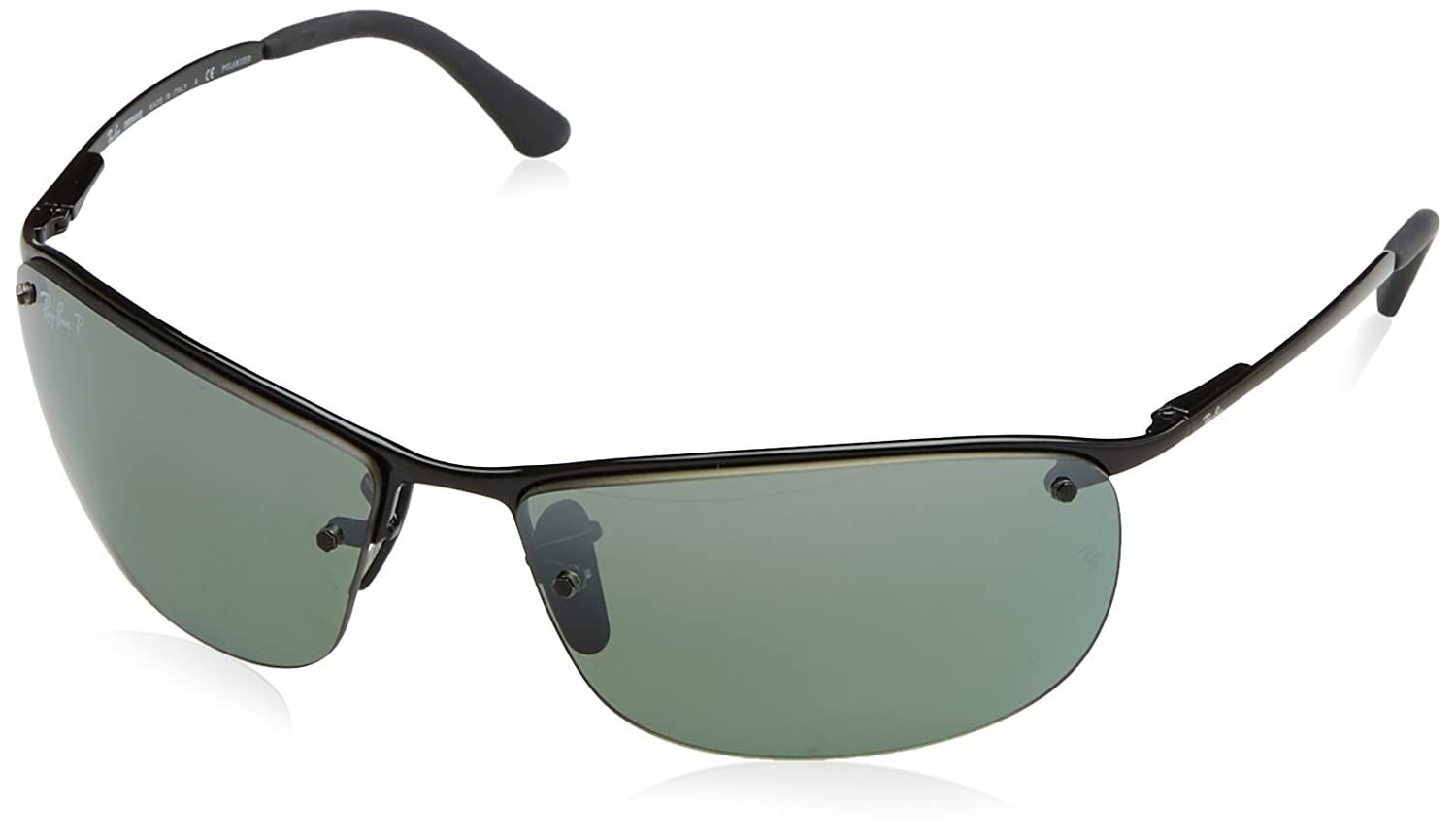 Ray-Ban RB3542 Chromance Lens Wrap Sunglasses Ray-Ban Sunglasses 0RB3542 MOD.3542SUN_002/5L-63