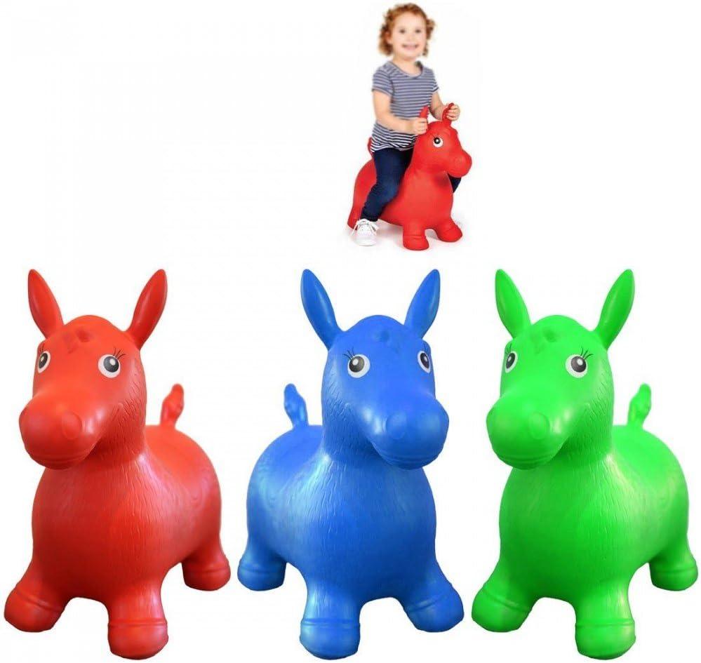 Balón saltador caballo niño verde pogo juguete bebé: Amazon.es ...