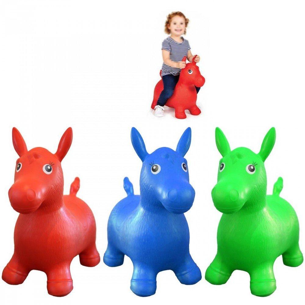 Balón saltador caballo niño verde pogo juguete bebé: Amazon.es: Hogar