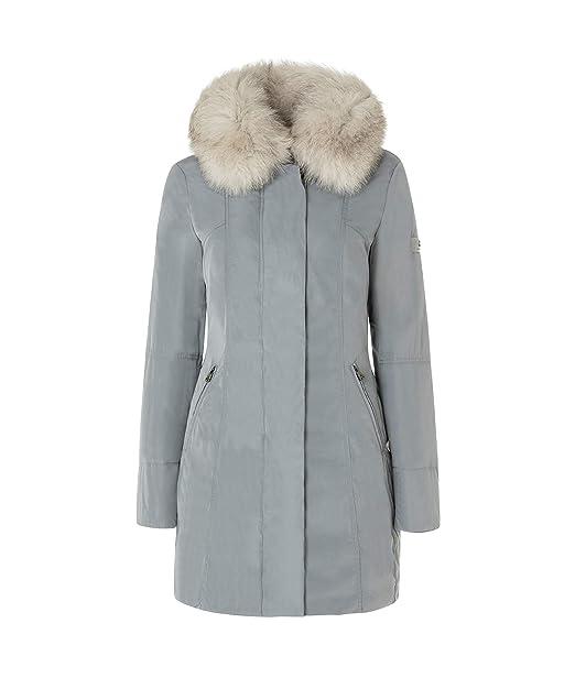 Peuterey Metropolitan GB Fur Giacconi Donna Grigio 40  Amazon.it   Abbigliamento a9b37219f5a