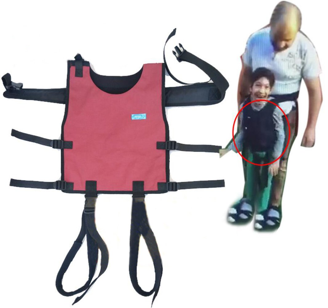 Effortsmy Transfer Belt Fixed Vest with Leg Loops - Medical Nursing A044 Safety Gait Assist Device - Children's Occupational & Physical Therapy