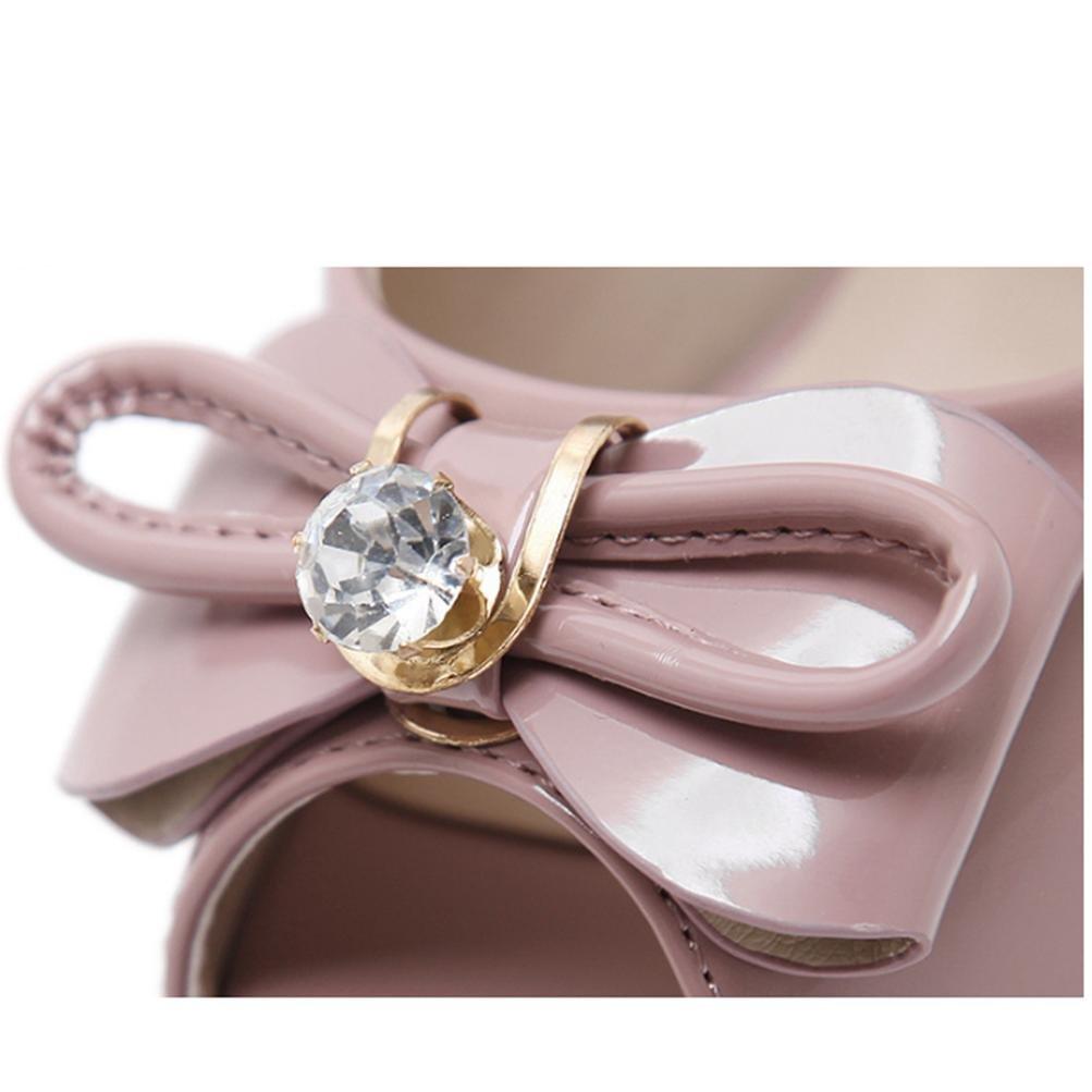 QPYC Damen-Sandaletten Rhinestone-Fisch-Mund-Frühling Rhinestone-Fisch-Mund-Frühling Damen-Sandaletten und Sommer-Berufskleid-Absatz-einzelne Schuhe pink dba04c