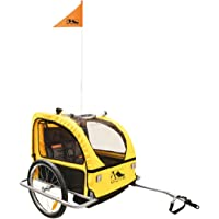 M Wave Men's KIDS RIDE EASY S Bicycle Trailer, Yellow, 60 x 75 x 28 cm