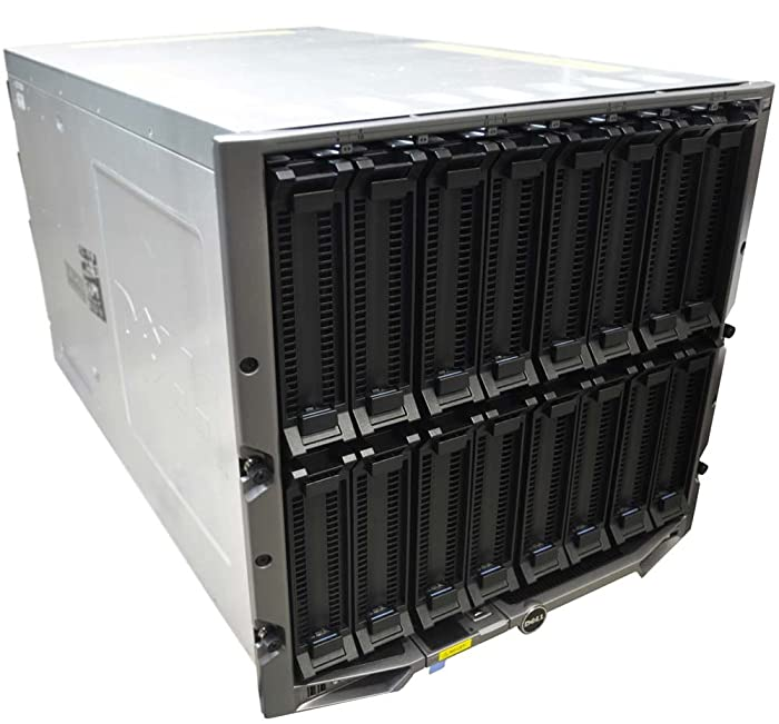Dell PowerEdge M1000e 16 Slot Blade Server Chassis w/ 9x Fans, 6x PS