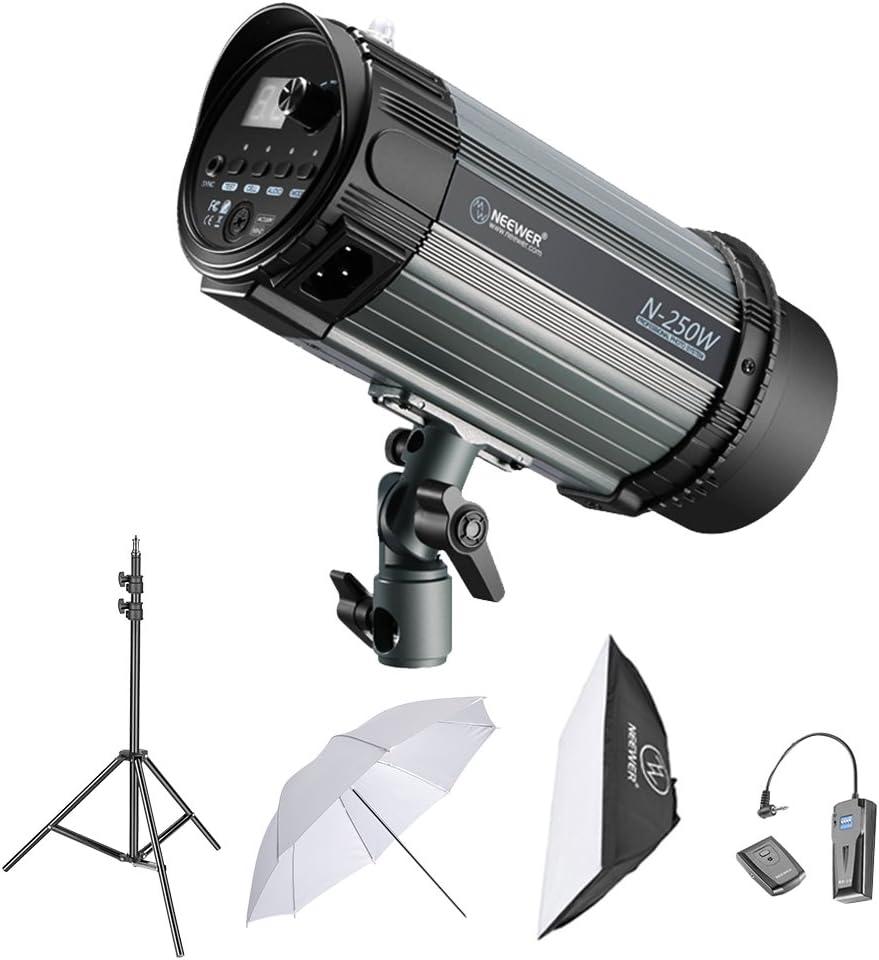 Neewer Kit Iluminación Fotografía Estroboscópica con Flash Monoluz 250W Soporte Luz Softbox Disparador Remoto RT-16 Pantalla de Estudio para Tomas de Video y Retratos: Amazon.es: Electrónica