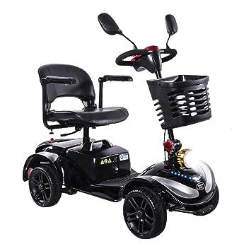 HOPELJ Silla De Ruedas Eléctrica Ciclomotor,Folding Portable Mobility Scooter - Movilidad Reducida Minusválido 270W Batería De Plomo 20AH Rango De 21.7 ...