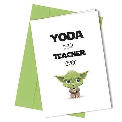 Tarjeta de felicitación de la mejor profesora de Yoda ...