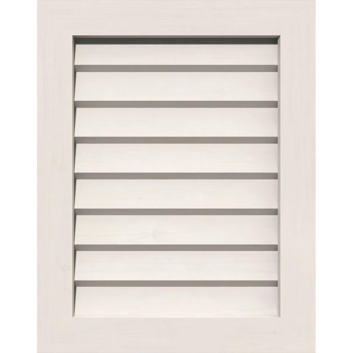 Ekena Millwork GVPVE20X1801DUN Pvc Gable Vent, 20'' W x 18'' H (25'' W x 23'' H Frame Size), White