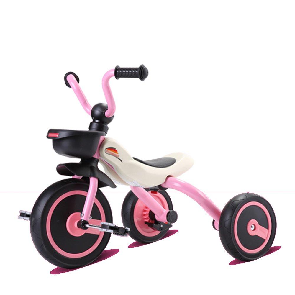 HAIZHEN マウンテンバイク 子供の三輪車折りたたみ可能な青、ピンク、オレンジの赤ちゃんバイク美しく、ファッショナブル 新生児 B07C6V7GTH Regular Edition|ピンク ぴんく ピンク ぴんく Regular Edition