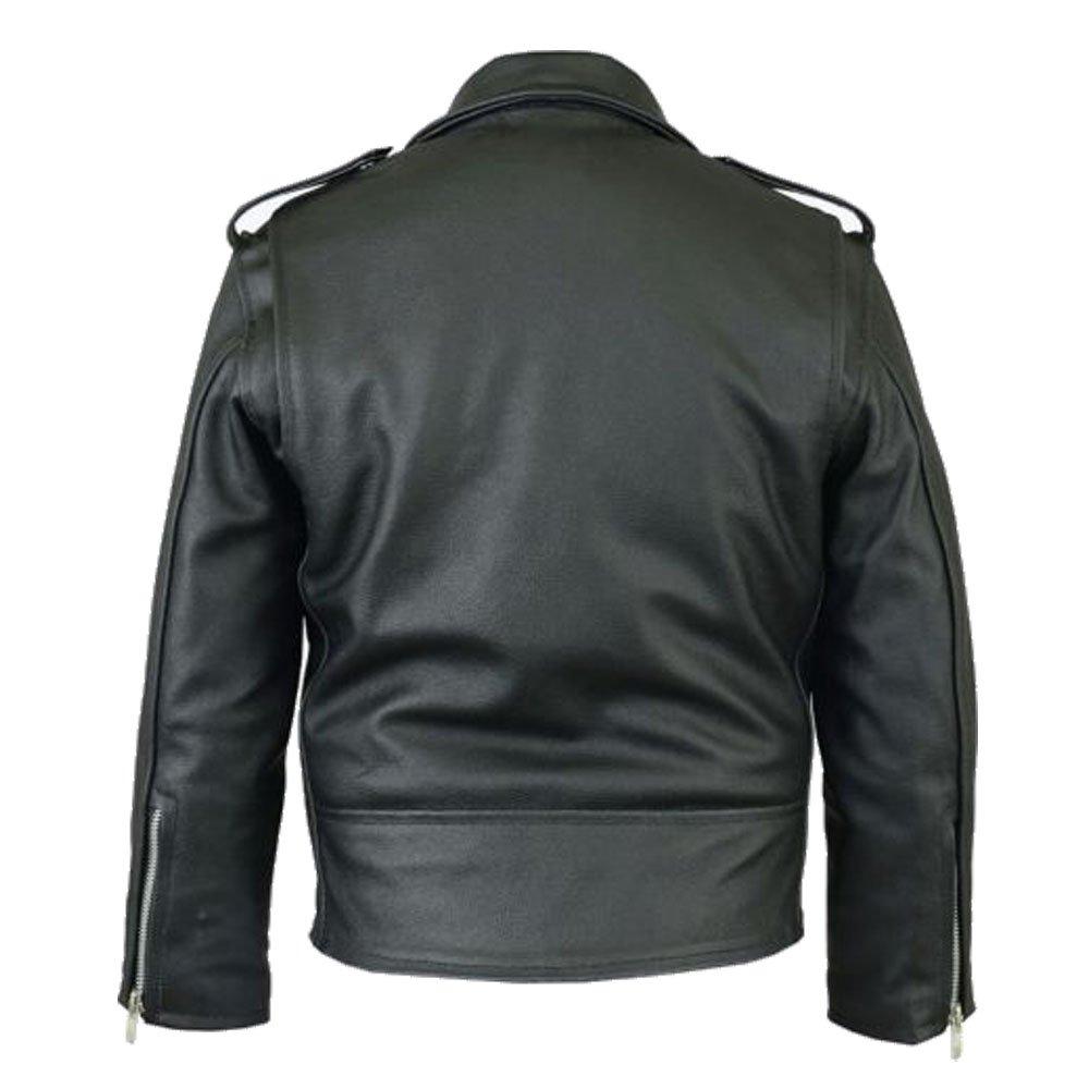 UK Seller Real Leather Motorcycle Brando Kids Biker Jacket