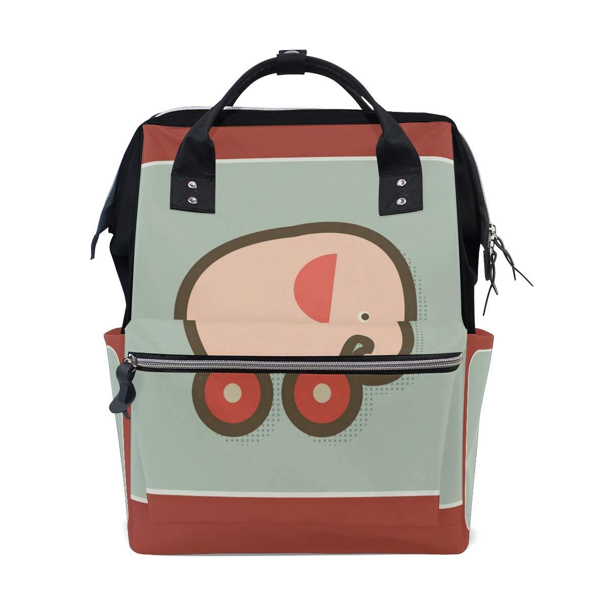 Nursing Bags On Wheels >> Amazon Com Fashion Diaper Bags Mummy Backpack Elephant On