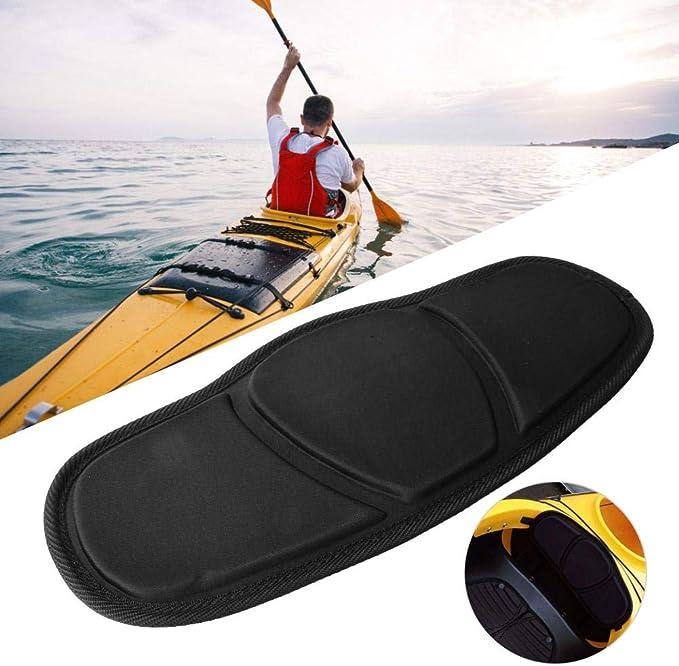 Leeofty 1pc Adjtable Kayaking Canoeing Sit On Top Kayak Seat Back Rest Seat Backrest Port Back Pad Band Noskid Chiony Black