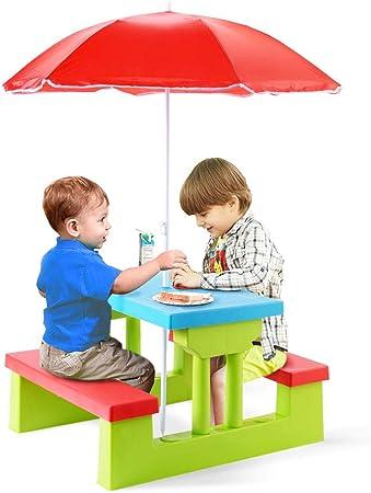GOPLUS Ensemble de Jardin pour Enfant, Ensemble Table de