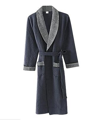 PFSYR Camisón de hombre otoño e invierno/Pijamas confort algodón/Otoño e invierno cálido albornoz Ropa de hogar: Amazon.es: Ropa y accesorios