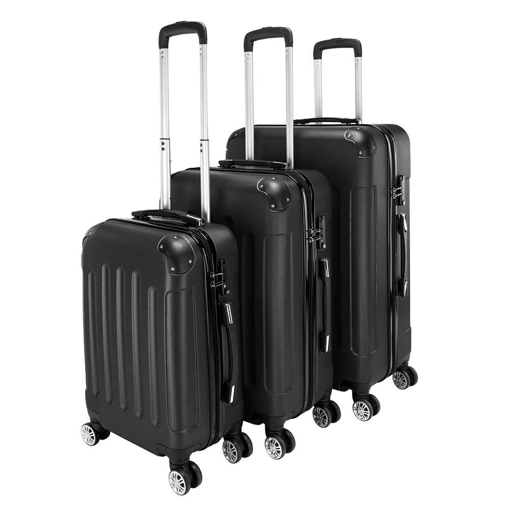 Lovinland Travel Luggage 3 Piece Set 20'' 24'' 28'' Storage Suitcase