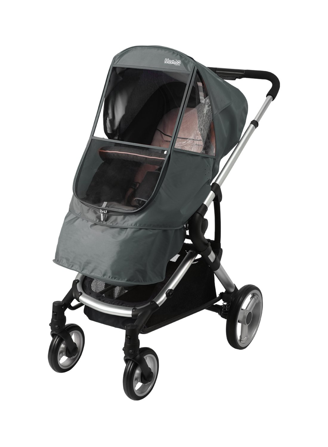 Manito Elegance Beta Stroller Weather Shield / Rain Cover (Grey) by Manito (Image #1)
