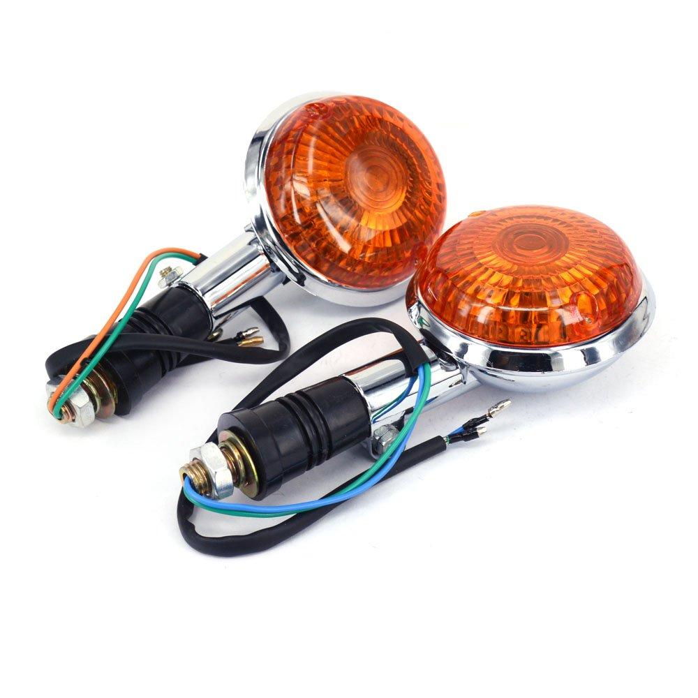 Fast Pro Len Vorne Drehen Drehen Signal Indicator Lampe f/ür Yamaha VStar Xvs XV400/650/1100/1300/V-Max 1200