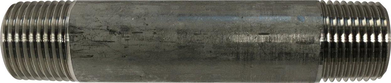 3//8-18 Thread Size 3//8 Diameter 1 Length Midland Metal 3//8-18 Thread Size 304 Stainless Steel 1 Length 3//8 Diameter Pack of 25 Midland 48-040 SCH 40 Welded 304 Stainless Steel Nipple
