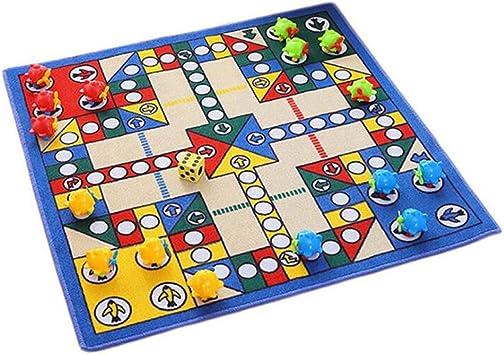 Puerta de Entrada Mat Inicio Flying Chess Monopoly Carpet Parenting Game Desktop Chess Game Pad for niños Dormitorio MDYHJDHYQ (Color : Blue, Size : 80x80cm Deluxe Edition): Amazon.es: Hogar