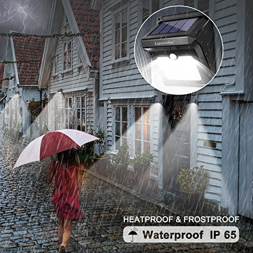 28 LEDs Solar Lights Outdoor, Motion Sensor Wireless Waterproof Security Wall Lights, Solar Light for Outdoor, Front Door, Back Yard, Garage, Porch by Luposwiten (4 Pack) by Luposwiten (Image #2)'
