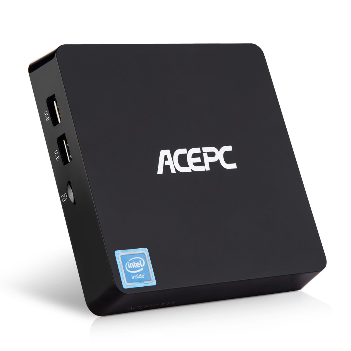 ACEPC T11, Micro PC Mini Ordinateur de Bureau Intel Cherry Trail sans Ventilateur Windows 10 Home/Pro (64 Bits) [4 Go DDR / 64 Go EMMC/Support 2.5' SSD/M SSD SATA/WiFi Dual Band / 4K]