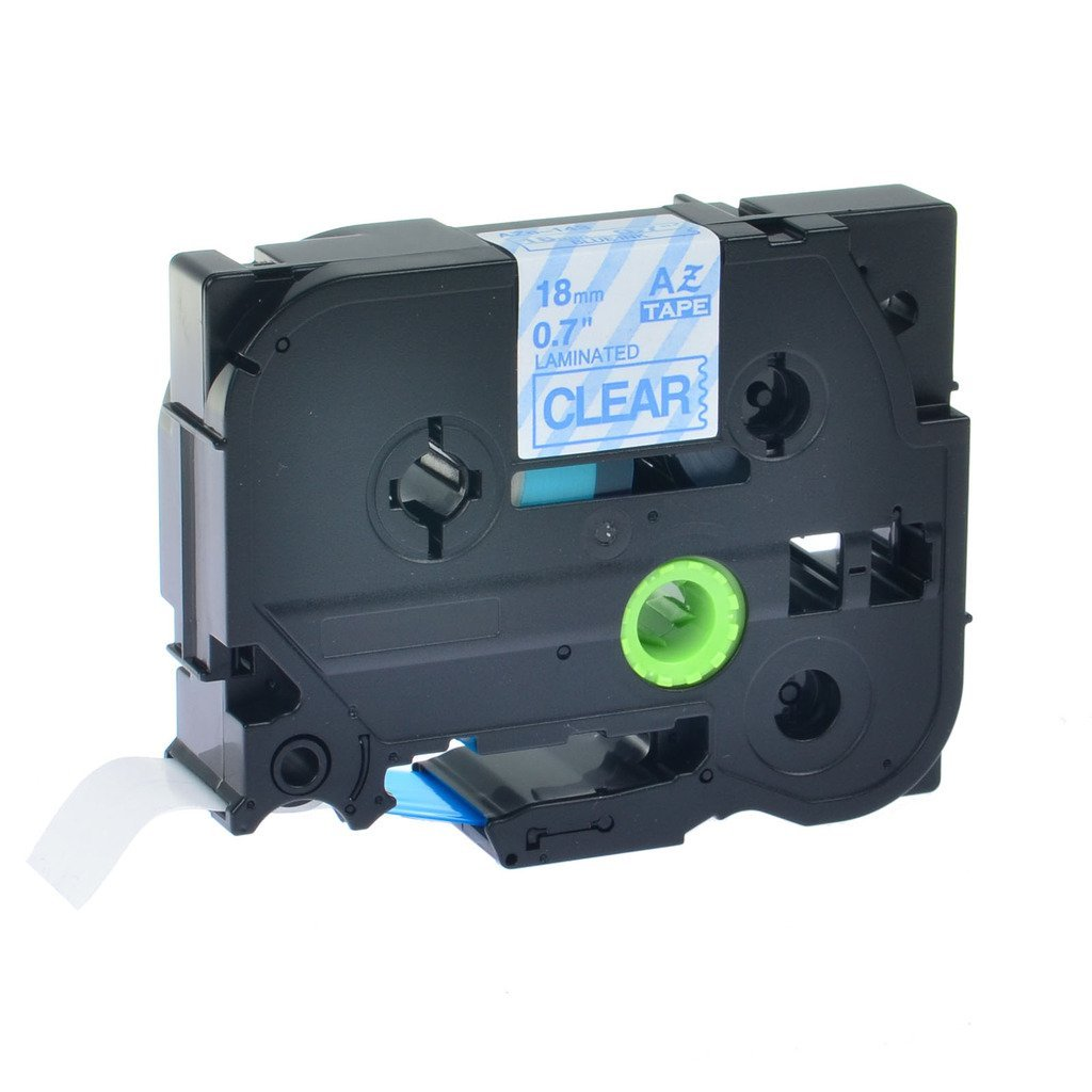 2PK Blue on Clear Tape for Brother P-touch PT1880 18mm Label Maker TZ TZe 143