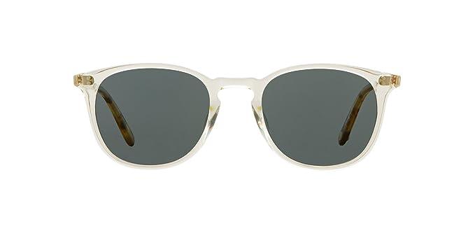 25d879ec777 Garrett Leight Square Kinney Sunglasses in Champagne-Champagne Dark  Tortoise Fade Blue Smoke Polar