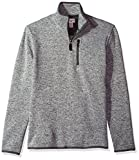 Dockers Men's Quarter Zip Sweater Fleece, Foil Heather, Medium