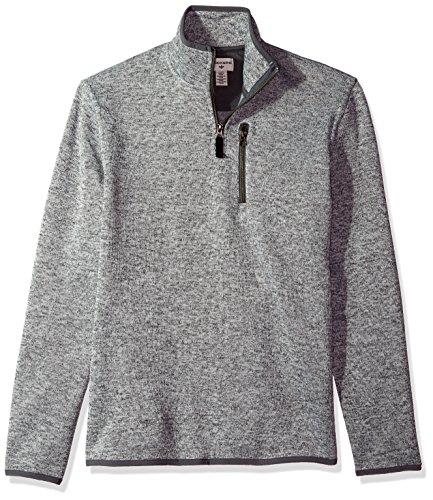 Dockers Men's Quarter Zip Sweater Fleece, Foil Heather, XX-Large (Shirt Quarter Zip)