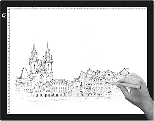 XFXDBT Ultradelgada A2 Mesa De Luz Dibujo,led Tablero De Trazado Digital Caja De Luz Tablero De Dibujo Artistas Diseño Dibujo Light Pad-3 Niveles Dimmable 60x40cm(24x16in): Amazon.es: Hogar