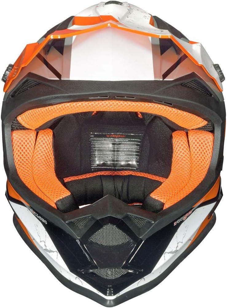 Gr/ö/ße:XXS RK-652 Kinder Crosshelm Endurohelm Motorradhelm Roller Quad Helm Kinderhelm Farbe:Black Coolplay 51-52