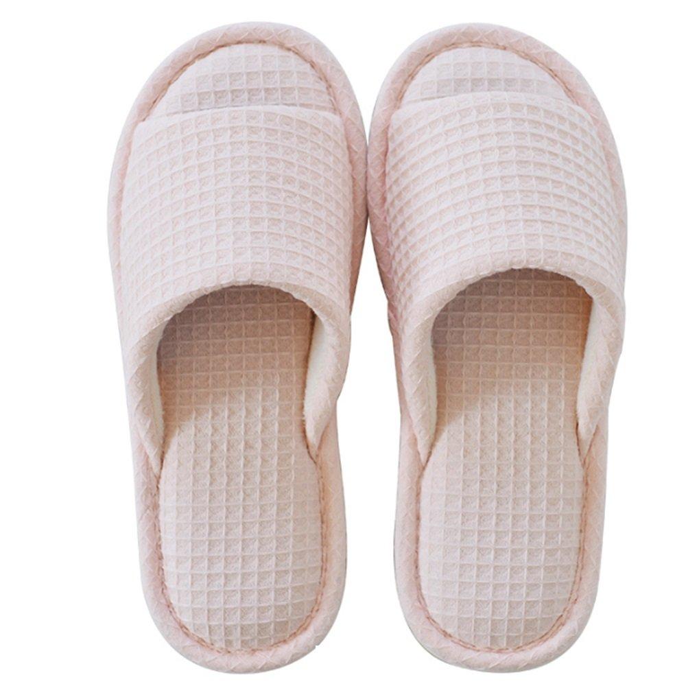 MEIDUO Sandalen Sommer-Pantoffeln Reisen ziehen die Anti-Rutsch-Bad-Pantoffeln Baumwolle Haus Pantoffeln Damen...