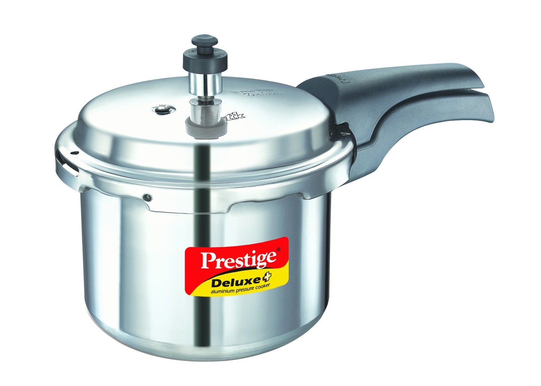 Prestige Deluxe Plus Aluminum Pressure Cooker, 3 Liter