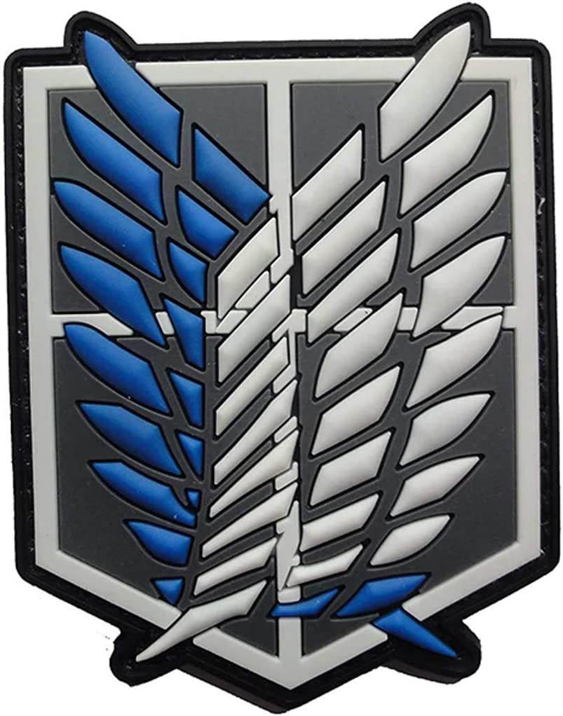 Attack on Titan Patch - Parche de goma de Attack on Titan (PVC), diseño de Attack on Titan: Amazon.es: Juguetes y juegos
