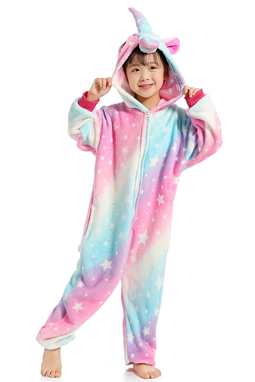 Mystery&Melody Unicorn Pajamas Animal Cosplay Halloween Costume Hoodie Outfit