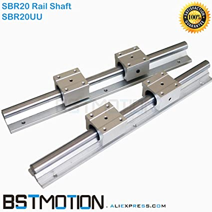 Amazon.com: Lysee 20mm Linear Rail Support SBR20 Shaft Guide ...