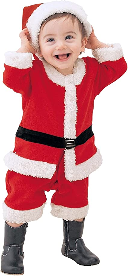 0-12 months CHIC-CHIC Kids Baby Boys Cute Christmas Pajama Set Santa Claus Outfits Costume with Hat