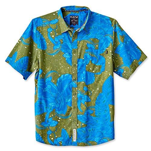 KAVU Men's Festaruski Button Down Shirts, Urban Jungle, Medium