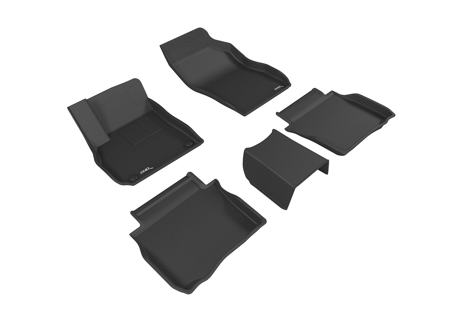 3D MAXpider Second Row Custom Fit All-Weather Floor Mat for Select Buick LaCrosse Models Black Kagu Rubber