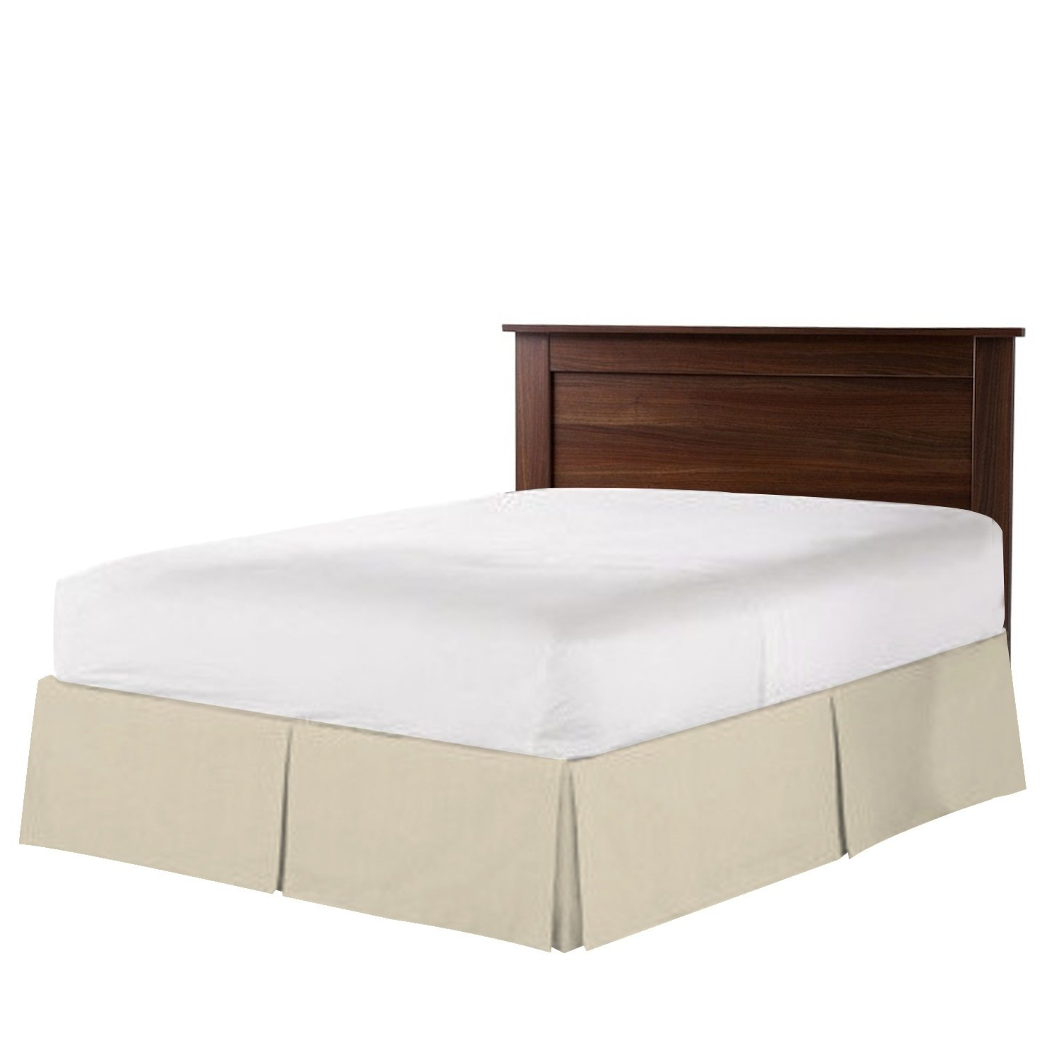 Nestl Bedding Double Brushed Microfiber Bed-Skirt, Cream