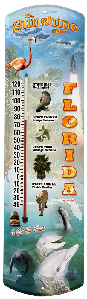 Heritage America by MORCO 375FL Florida Outdoor or Indoor Thermometer, 20-Inch