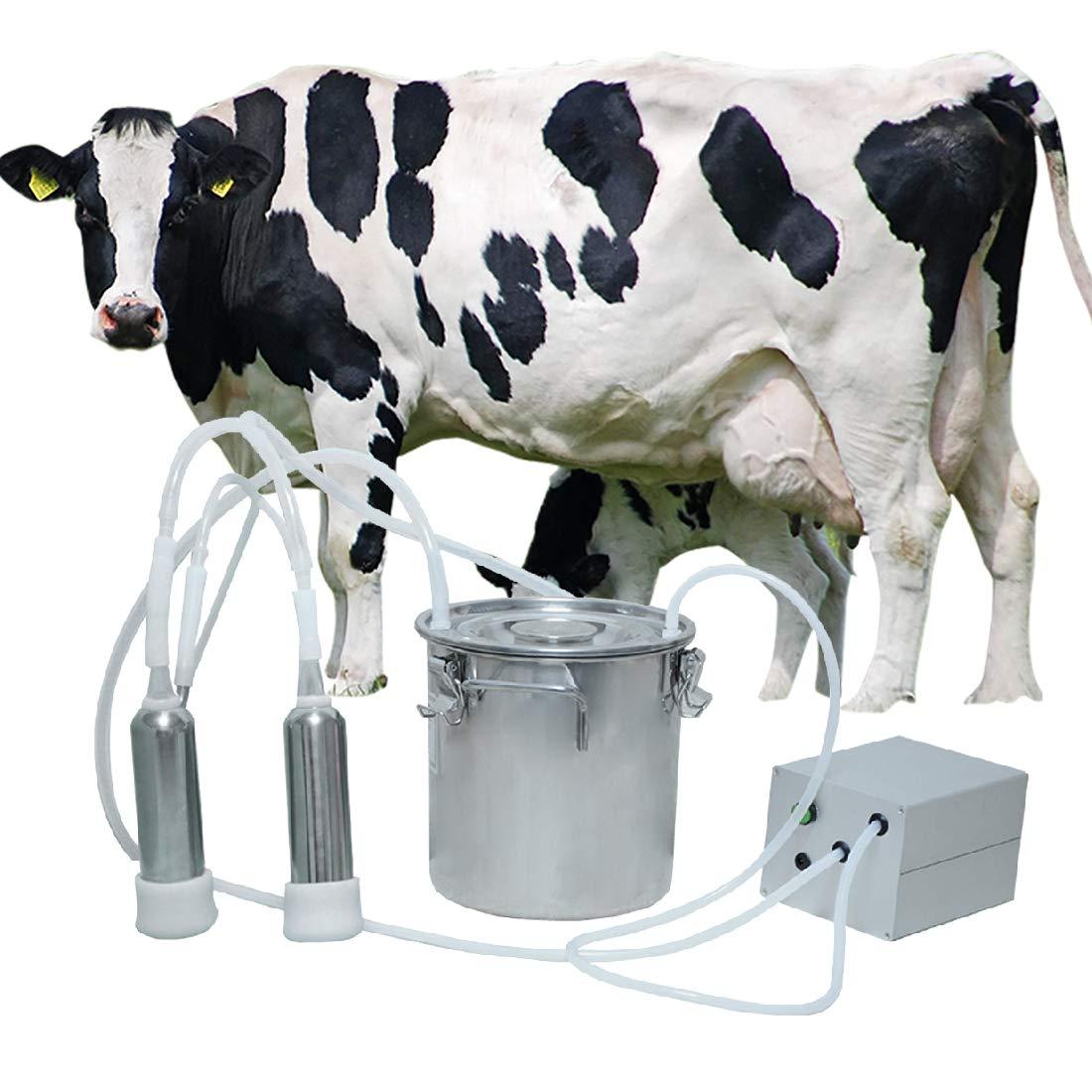 BEETLA Electric Pulsation Milking Machine   5L Portable Vacuum-Pulse Pump Cow Milking Machine with 2 Teat Milker   Suction Milker Vacuum Pump with Automatic Stop Device by BEETLA
